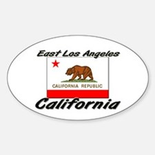 East Los Angeles California Oval Decal