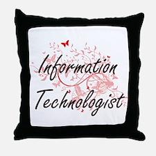 Information Technologist Artistic Job Throw Pillow