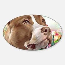 Pit Bull Painting Decal