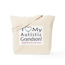 I Love my Autistic Grandson! - Tote Bag