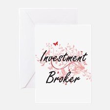 Investment Broker Artistic Job Desi Greeting Cards