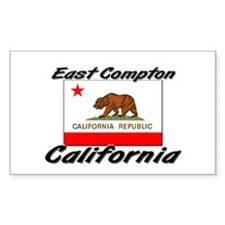 East Compton California Rectangle Decal