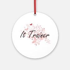 It Trainer Artistic Job Design with Round Ornament