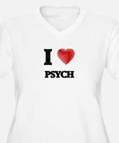 I Love Psych Plus Size T-Shirt
