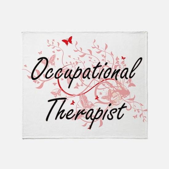Occupational Therapist Artistic Job Throw Blanket