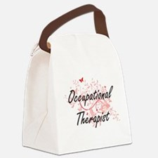 Occupational Therapist Artistic J Canvas Lunch Bag