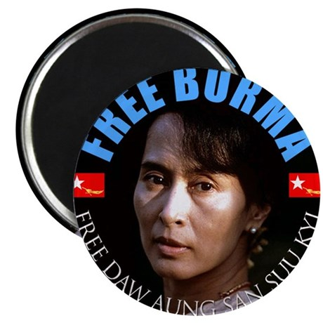 """Free Burma Now 2.25"""" Magnet (10 pack)"""