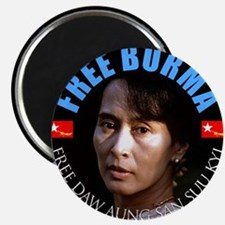 """Free Burma Now 2.25"""" Magnet (100 pack)"""