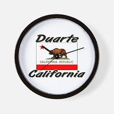Duarte California Wall Clock