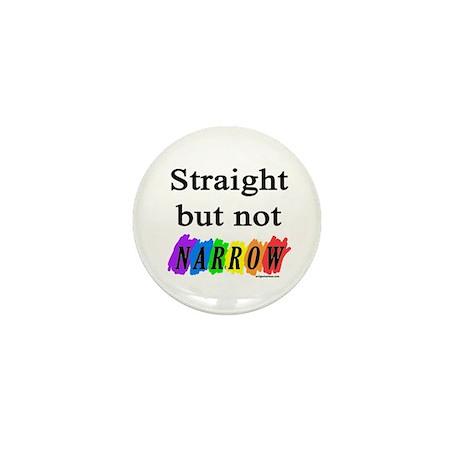Straight but not narrow rainb Mini Button (10 pack