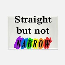 Straight but not narrow rainb Rectangle Magnet