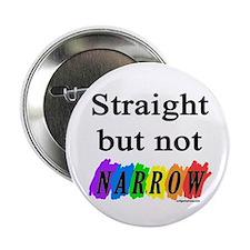 "Straight but not narrow rainb 2.25"" Button (10 pac"