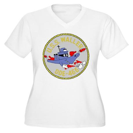 USS Waller (DDE 466) Women's Plus Size V-Neck T-Sh