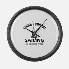Sailing Choose Me Large Wall Clock