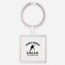 Salsa Choose Me Square Keychain