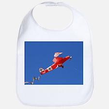Red Baron biplane kite Bib