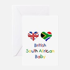 British South African Baby Greeting Card