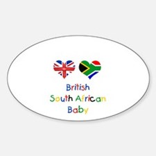 British South African Baby Oval Decal