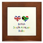 British South African Baby Framed Tile