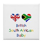 British South African Baby Tile Coaster