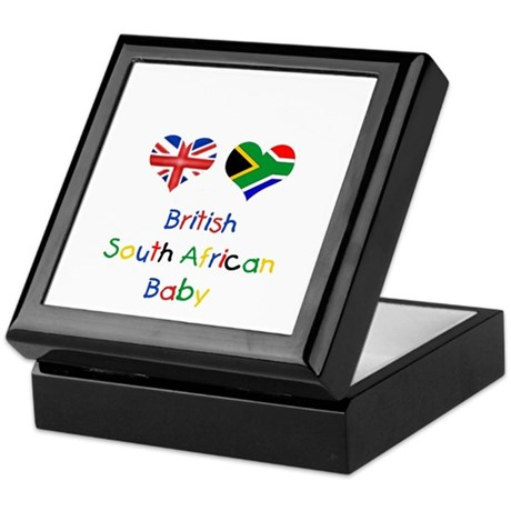 British South African Baby Keepsake Box