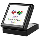 British South African Baby Keepsake Box
