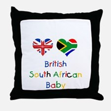British South African Baby Throw Pillow