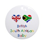 British South African Baby Ornament (Round)
