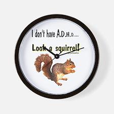 ADHD Squirrel Wall Clock