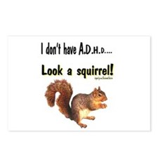 ADHD Squirrel Postcards (Package of 8)