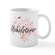 Upholsterer Artistic Job Design with Butterfl Mugs
