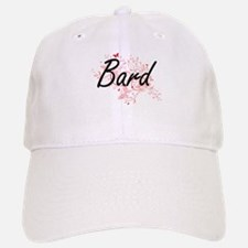 Bard Artistic Job Design with Butterflies Baseball Baseball Cap