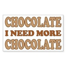 Chocolate Lover Rectangle Decal