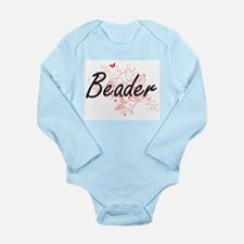 Beader Artistic Job Design with Butterfl Body Suit