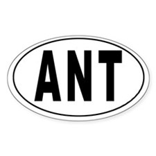 NETHERLANDS ANTILLES Oval Decal