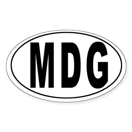 MADAGASCAR Oval Sticker