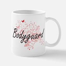 Bodyguard Artistic Job Design with Butterflie Mugs