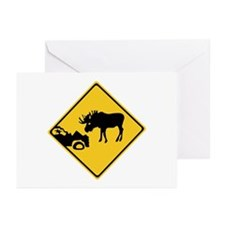 Beware of Moose, Canada Greeting Cards (Pk of 10)