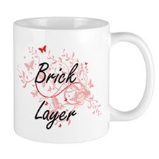 Brick Layer Artistic Job Design with Butterfl Mugs