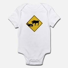 Beware of Moose, Canada Infant Bodysuit