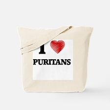 I Love Puritans Tote Bag