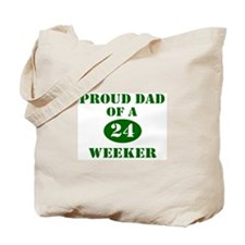 Proud Dad 24 Weeker Tote Bag