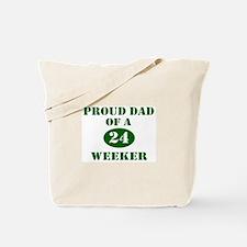 Proud Dad 24 Weeker Tote Bag