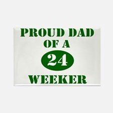 Proud Dad 24 Weeker Rectangle Magnet (10 pack)