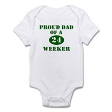 Proud Dad 24 Weeker Infant Bodysuit