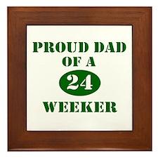 Proud Dad 24 Weeker Framed Tile