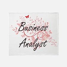 Business Analyst Artistic Job Design Throw Blanket