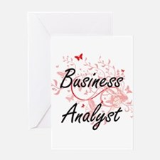 Business Analyst Artistic Job Desig Greeting Cards