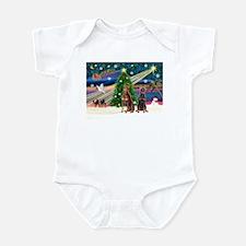 XmasMagic/2 Dobies (P3) Infant Bodysuit