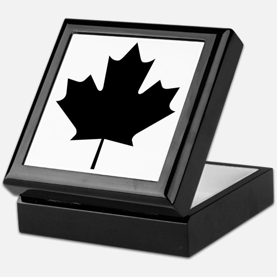 Black Maple Leaf Keepsake Box